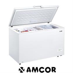 מקפיא תעשייתי AMCOR אמקור דלת אחת De-Frost נפח 380 ליטר צבע לבן דגם AM400CF