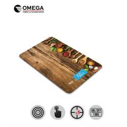 משקל מטבח זכוכית איכותי ומעוצב OMEGA OM-KITSCALE