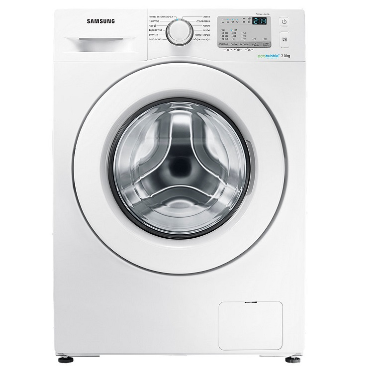 """מכונת כביסה פתח קידמי Samsung WW7SJ4263KW 7 ק""""ג סמסונג"""